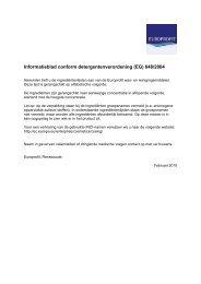 Informatieblad conform detergentenverordening (EG) 648 ... - Kruidvat