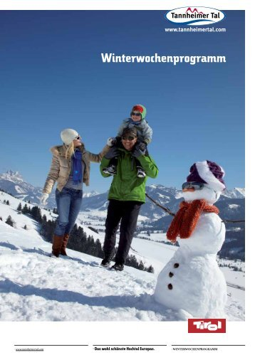 Winterwochenprogramm - Download brochures from Austria