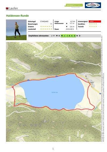 Laufen Haldensee-Runde - Tannheimer Tal