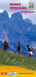 Wander vorschläge - Tannheimer Tal