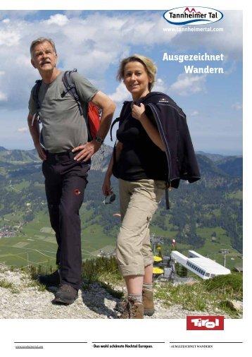 Ausgezeichnet Wandern im Tannheimer Tal