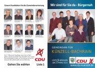 Unsere Kandidaten für die Gemeindevertretung ... - CDU Künzell