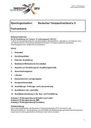 Rahmenrichtlinien für die Ausbildung Trainer C Leistungssport