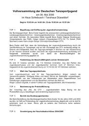 Protokoll Jugendversammlung 2006