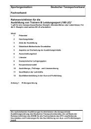 Trainer B Leistungssport - Deutscher Tanzsportverband eV