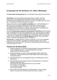 News-Meldungen, Inhalte und Anregungen
