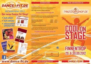 Flyer Cool on Stage in Finnentrop - Tanzworkshop.de