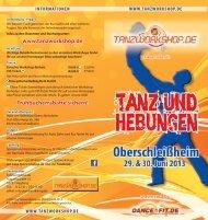 Flyer Workshops in Oberschleißheim 2013 - Tanzworkshop.de