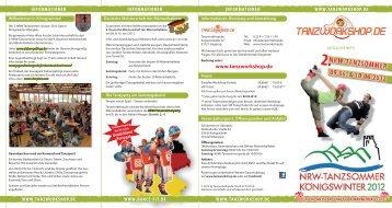 SAMSTAG 09.06.2012 UND SONNTAG 10.06 ... - Tanzworkshop.de