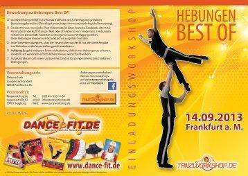 Flyer Hebungen Best OF! 2013 - Tanzworkshop.de