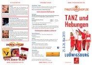Flyer Workshops in Ludwigsburg 2013 - Tanzworkshop.de