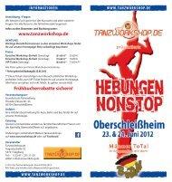 www.tanzworkshop.de Frühbucherrabatte sichern!