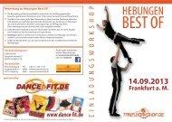 Flyer Hebungen Best OF! 2013 - druckerfreundlich - Tanzworkshop.de