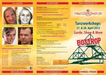 Flyer Workshops in Bottrop 2013 - Tanzworkshop.de