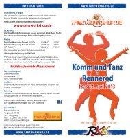 Flyer Workshops in Rennerod 2013 - Tanzworkshop.de
