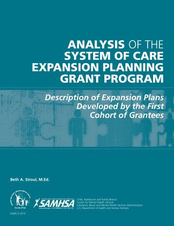 Analysis of System of Care Expansion Planning Grant Program