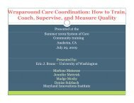 Wraparound Care Coordination: How to Train, Coach, Supervise ...