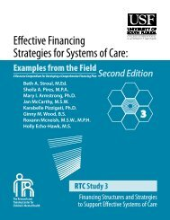 Effective Financing Strategies for Systems of Care: - The Research ...