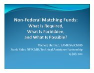 Non-Federal Matching Funds - Technical Assistance Partnership