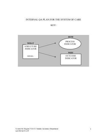 Internal Quality Assurance Plan for the System of Care (PDF)