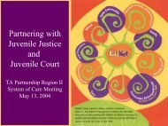 Partnering with Juvenile Justice and Juvenile Court - Technical ...