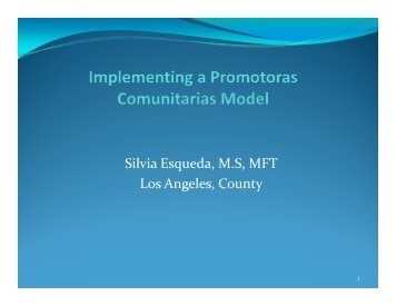 Silvia Esqueda, M.S, MFT Los Angeles, County - Technical ...