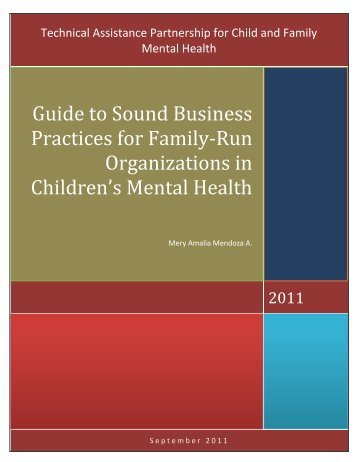 Guide to Sound Business Practices for Family-Run Organizations in ...