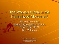 The Women's Role in the Fatherhood Movement (PDF)