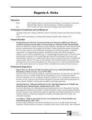 Regenia A. Hicks - Technical Assistance Partnership