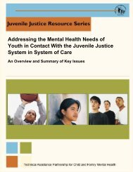 Addressing the Mental Health Needs of Youth in Contact With the ...