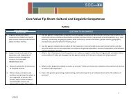 Cultural and Linguistic Competence Implementation Tip Sheet