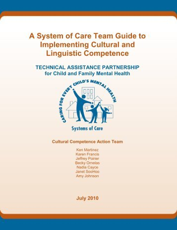 A System of Care Team Guide to Implementing Cultural - Technical ...
