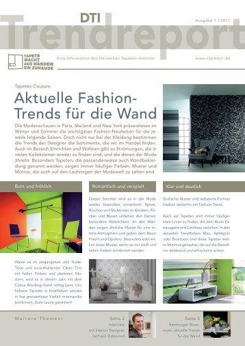 Aktuelle Fashion- Trends für die Wand - Tapeten.de