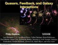 Quasars, Feedback, and Galaxy Interactions - TAPIR Group at Caltech