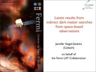 Latest results from indirect dark matter searches from space-based ...