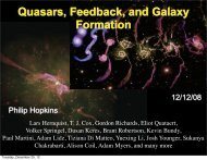 Quasars, Feedback, and Galaxy Formation - TAPIR Group at Caltech