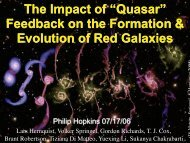The Impact of 'Quasar' Feedback on the Formation - TAPIR Group at ...