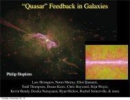 """Quasar"" Feedback in Galaxies - TAPIR Group at Caltech"