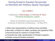 Solving Einstein's Equation Numerically on Manifolds with Arbitrary ...