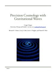 Precision Cosmology with Gravitational Waves - National Academies