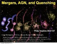 Mergers, AGN, and Quenching - Tapir - Caltech
