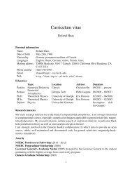 Curriculum vitae - TAPIR Group at Caltech