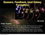 Quasars, Feedback, (and Galaxy Formation) - TAPIR Group at Caltech