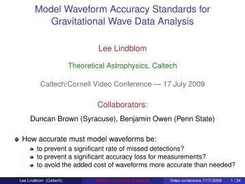Model Waveform Accuracy Standards for Gravitational Wave Data ...