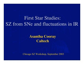 First Star Studies - TAPIR Group at Caltech