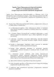 az egyes képviselő-testületi hatáskörök delegálásáról - Tapolca