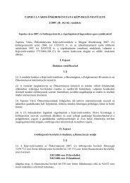 Tapolca város 2007. évi költségvetéséről, a végrehajtásával ...