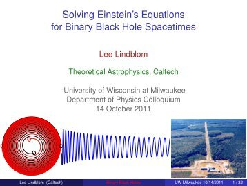 Solving Einstein's Equations for Binary Black Hole Spacetimes