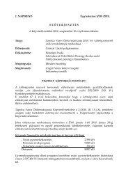 Tapolca Város Önkormányzata 2010. évi költségvetéséről szóló ...