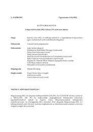 Tapolca város 2012. évi költségvetéséről és a végrehajtásával
